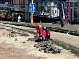 FOTO DNE: V centru města se pracuje naplno i v sobotu