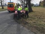 Právě teď: Střet osobního vozu s cyklistou si vyžádal zranění