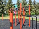 Workoutové hřiště na Nováku má své první objevitele