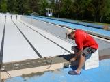 Příští týden se začne napouštět venkovní bazén