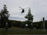 Právě teď: Po srážce vlaku s chodcem míří na pomoc vrtulník