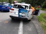Strakonickou právě teď ochromuje v pátečním provozu dopravní nehoda