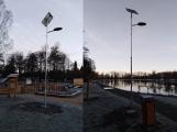 Solární osvětlení kolem Nového rybníka je již hotové