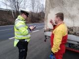Dopravně bezpečností akce odhalila v sedmi případech nevyhovující technický stav nákladních vozidel