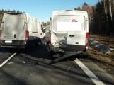Aktuálně: Hromadná nehoda zastavila provoz před nájezdem na dálnici D4