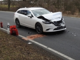 Aktuálně: Dopravní nehoda omezuje provoz na výjezdu z Příbrami