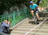 Jezdec na jednokolce Petr Beneš se na Svatohorských schodech pokusí o další rekord
