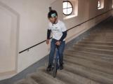 Rekordman Petr Beneš zdolal na jednokolce svatohorské schody