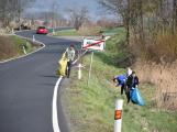 Sbíral se komunální odpad, plasty i pneumatiky
