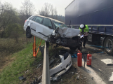 Vážná nehoda na Strakonické způsobila dopravní kolaps