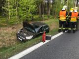 Dopravní nehoda zaměstnává záchranné složky u Věšína
