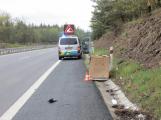 Řidič nákladního vozidla potkal na dálnici lednici