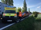 Aktuálně: Provoz na Strakonické omezuje nehoda. Lékaři mají v péči zraněné dítě