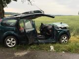 Aktuálně: U Chrástu narazilo auto do stromu, na místě přistály dva vrtulníky