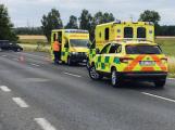 Aktuálně: Strakonickou silnici uzavřela dopravní nehoda s větším počtem zraněných osob