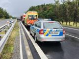 Dálnice opět v problémech, u Dobříše uzavřela nehoda jízdní pruh