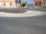 Dobříšský kruhový objezd se bude opravovat za provozu