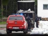 Dvě jednotky hasičů zasahovaly u požáru nákladního vozidla v Dubenci