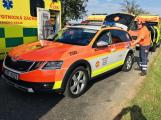 Vážná dopravní nehoda si vyžádala zranění čtyř osob, v místě přistál vrtulník