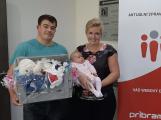 Navštívila nás malá Adrianka, vítězka červencové soutěže o nejkrásnější miminko