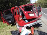 Vážná nehoda uzavřela Strakonickou. V místě přistál vrtulník
