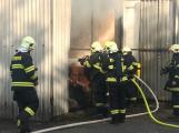 Hasiči vyjížděli k požáru dřevní štěpky v Bezděkově pod Třemšínem