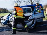 Dopravní nehoda tří aut uzavřela Strakonickou