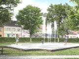 Petrovické náměstí se změní: Nová kašna bude moderní, bez typických žulových balvanů