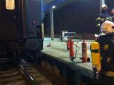 Hasiči vyjeli na hořovické nádraží k požáru vagónu