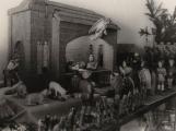 Chlebáčci, řada necek a kádí, voňavé stromky. Hornický adventní trh byl skromný, ale měl své kouzlo