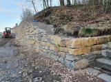 Kámen z dolů byl poztrácen a částečně zcizen. Opěrná zeď u dolu Anna dostala nový odstín