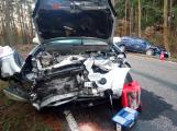 Čelní náraz si vyžádal zranění tří osob