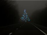 Na silnici viděl vánoční stromeček, strhl řízení a skončil na boku. Stromeček nikdo nenašel
