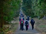 Stovky lidí vystoupaly první den roku na vrchol Třemšína