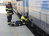 Provoz na hořovickém nádraží omezil požár lokomotivy