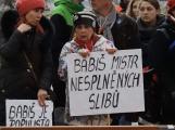 Fotogalerie: Babiš se při návštěvě Příbrami setkal s odpůrci i příznivci