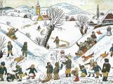 Od roku 1775 byla druhá nejteplejší zima. Ladovy zasněžené vesnice znají dnešní děti jen z obrázků
