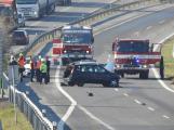 Technická závada na nákladním voze uzavřela dálnici u Mníšku pod Brdy