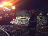 V Chrástu na Příbramsku hořela skládka s odpady, požár likvidovaly tři hasičské jednotky