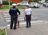 Řidič červené dodávky přejel na přechodu v Podbrdské ulici psa, policisté hledají svědky