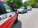 Havárie skútru uzavřela silnici u Tochovic