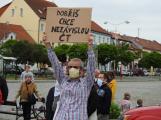 Video: V Dobříši se protestovalo proti vládě. Sešla se stovka demonstrujících a čtyři psi