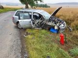 Opilý řidič sešrotoval u Chraštiček auto o strom, nadýchal přes jedno promile