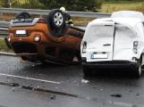 Provoz na dálnici D4 u Obořiště omezila nehoda tří vozidel