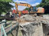 Rekonstrukce mostu u Dolejší Obory probíhá podle harmonogramu