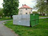 Technické služby zkouší zelený kontejner, nyní v ulici Petra Bezruče