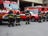 Příbramští hasiči uctili památku dvou kolegů, kteří zahynuli v Koryčanech
