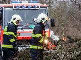 Vítr ve středních Čechách lámal stromy a větve, hasiči vyjeli víc než 1500krát