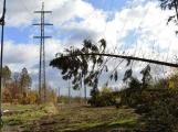 Bez elektřiny po silném větru bylo dnes ráno ve středních Čechách přes sedm tisíc odběratelů