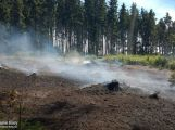 Dobrovolní hasiči měli minulý týden napilno, jeli hasit lesní porost i osobní vůz